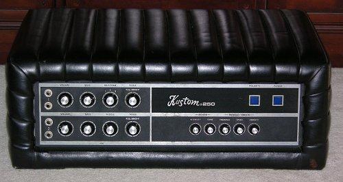 Kustom 250 Vintage Tuck Amp Roll Amp Head Vinyl Amplifier